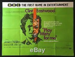 Frisson Dans La Nuit Originale Quad Movie Poster 1971 Clint Eastwood Abc Cinema