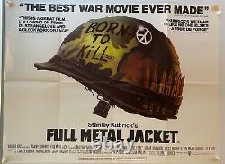 Full Metal Jacket Original Uk British Quad Film Poster 1987 Stanley Kubrick