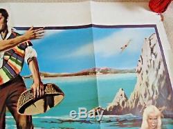 Fun In Acapulco Cinema Original Uk Poster Poster Film Quad 1963 Elvis Presley Rare