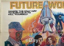 Future Du Monde Uk Film Quad 1976 Affiche De Film Peter Fonda Blythe Danner