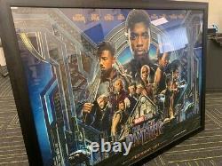 Genuine Black Panther (2018) Original Cinema Movie Quad Poster 40x30 (encadré)