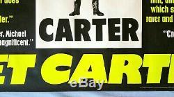Get Carter (1971) Affiche De Film Originale Britannique Quad Rolled Unfolded -v. Rare- Caine