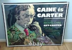Get Carter (1971) D'origine Affiche Du Film Quad Britannique Michael Caine Arnaldo Putzu