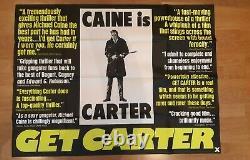 Get Carter (1971) Original Uk Quad Movie / Film / Affiche De Cinéma Style Rare