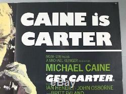Get Carter Michael Caine / Ian Hendry Originale 1971 Uk Quad Affiche Du Film