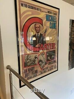 Get Carter Véritable Originale Rare 1971 Taille Italienne Quad Encadrée Affiche De Film