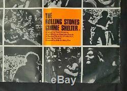 Gimme Shelter (1970) Rare Affiche Originale Britannique Quad Rolling Stones