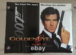 Goldeneye 1995 Affiche De Cinéma Originale Du Royaume-uni Quad 007 James Bond
