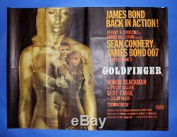 Goldfinger Originale Britannique Quad James Bond 007 Sean Connery