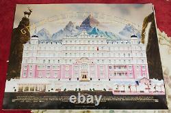 Grand Budapest Hôtel Original 2014 Uk Quad Affiche De Film Roulé Comédie Cinéma