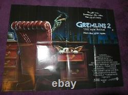 Gremlins 2 II 1990 Warner Bros Affiche De Cinéma Vintage Quad Originale 40 30