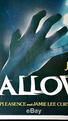 Halloween (1978) Affiche Du Film Originale Britannique Quad Rolled Michael Myers Horreur