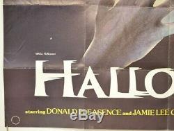 Halloween (1978) Original Quad Affiche Du Film De John Carpenter, Jamie Lee Curtis