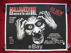 Halloween 3 III 1982 Affiche De Film Originale La Saison De La Sorcière