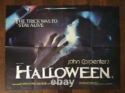 Halloween Film Affiche Originale Uk Quad (29 1/4 X 39 1/4)
