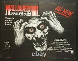 Halloween III Saison De La Sorcière 1982 Cinéma Original Royaume-uni Quad Film Poster Rare