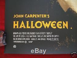 Halloween Mondo Affiche De Cinéma Originale Jock Art Variante Quad Michael Myers