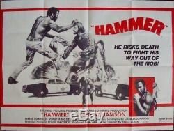 Hammer Britannique Affiche De Film Quad 30x40 Fred Wiliamson Blaxploitation 1972 Rare