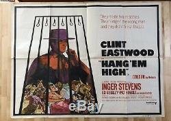 Hang Em High Affiche Du Film Quad Uk 1968 Clint Eastwood Western Film De 1968