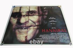 Hannibal Film Uk Quad Poster Original D/s Taille Complète Anthony Hopkins Retiré