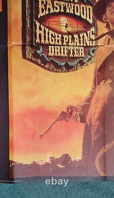 Hautes Plaines Drifter (1973) Affiche Originale Du Cinéma Quad Du Royaume-uni Clint Eastwood