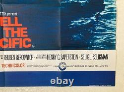 Hell In The Pacific Original Movie Quad Poster 1968 Lee Marvin Toshiro Mifune