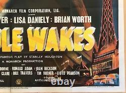Hindle Wakes Original Uk Quad Film Poster 1952 Leslie Dwyer Lisa Daniely Rare