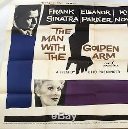 Homme Au Bras D'or U. K. Quad Vintage De Cinéma Affiche Du Film Sinatra 1954