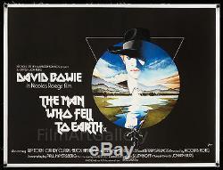 Homme Qui A Earth'76 Royaume-uni Tombé Affiche Quad L / B Nic Roeg David Bowie Filmartgallery