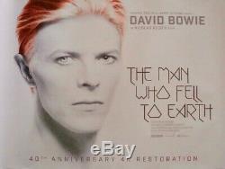Homme Qui A La Terre Britannique Tombé Affiche De Film Quad R2016 David Bowie Mint 30x40
