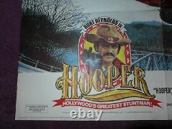 Hooper Burt Reynolds 1978 Originale Vintage Quad Cinéma Affiche 40 X 30
