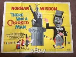 IL Y Avait Un Homme Tordu Affiche De Film Originale Du Royaume-uni Quad Norman Wisdom 1960