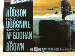 Ice Station Zebra Film Original Quad Poster 1968 Hudson Borgnine Mcgoohan Brown