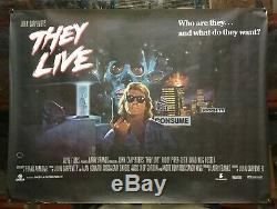 Ils Vivent 1988 Quad Britannique Affiche Du Film John Carpenter