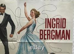 Indiscret Originale Britannique Film Quad Affiche 1958 Cary Grant, Ingrid Bergman
