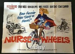 Infirmière Sur Les Roues Originales Quad Affiche Du Film Sims Joan Carry On 1963 Mills Juliette