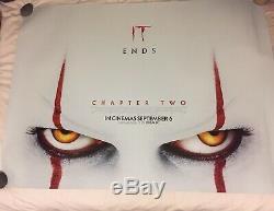 It Chapitre 2 (2019) Original Cinema Royaume-uni Quad Double Face Affiche De Film Stephen King