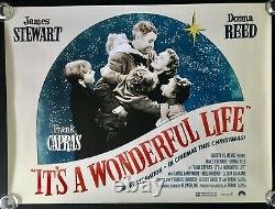 Its A Wonderful Life Original Quad Movie Poster Bfi 2018 Rr James Stewart Capra