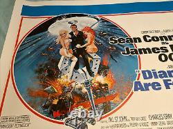 James Bond Diamonds Are Forever, Royaume-uni Film Quad Lin Soutenu Et Original