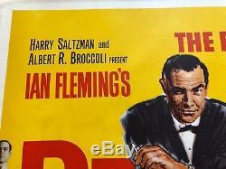 James Bond Dr. No Original 1962 Uk Affiche Du Film Quad Sean Connery 007 Movie