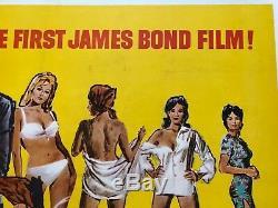James Bond Dr. No Original Uk Quad Film 1962 Poster Sean Connery 007 Film