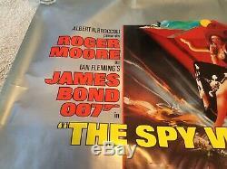 James Bond L'espion Qui Me Aimait Original Uk Quad Affiche De Film 1977 (roulé)