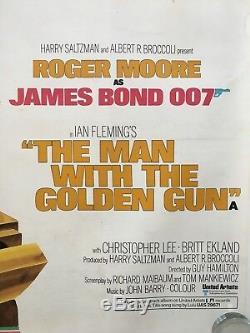 James Bond, L'homme Au Pistolet En Or, Affiche Originale De 1974