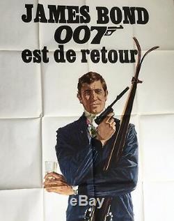 James Bond Ohmss Film Vintage Cinéma Affiche De Publicité Pour Films Cinéma Quad Art 007 1969