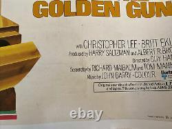 James Bond, The Man With The Golden Gun, Uk Movie Quad Linen Backed & Original