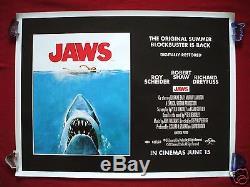 Jaws 2012 Affiche Originale De Film Uk Quad D / S Spielberg 1975 Classique Halloween