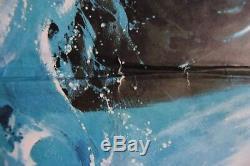 Jaws 2 (1978) Affiche Du Film Roy Scheider Lorraine Grey Quad Uk