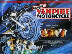Je Bought A Vampire Motos Film Britannique Affiche Quad 1990 Original 30x40 Rare