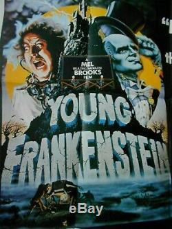 Jeune Frankenstein Britannique Affiche De Film Quad Mel Brooks Monstres Célèbre Comédie