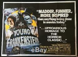 Jeune Frankenstein Original Quad Affiche Du Film Mel Brooks Gene Wilder 1974 Comédie